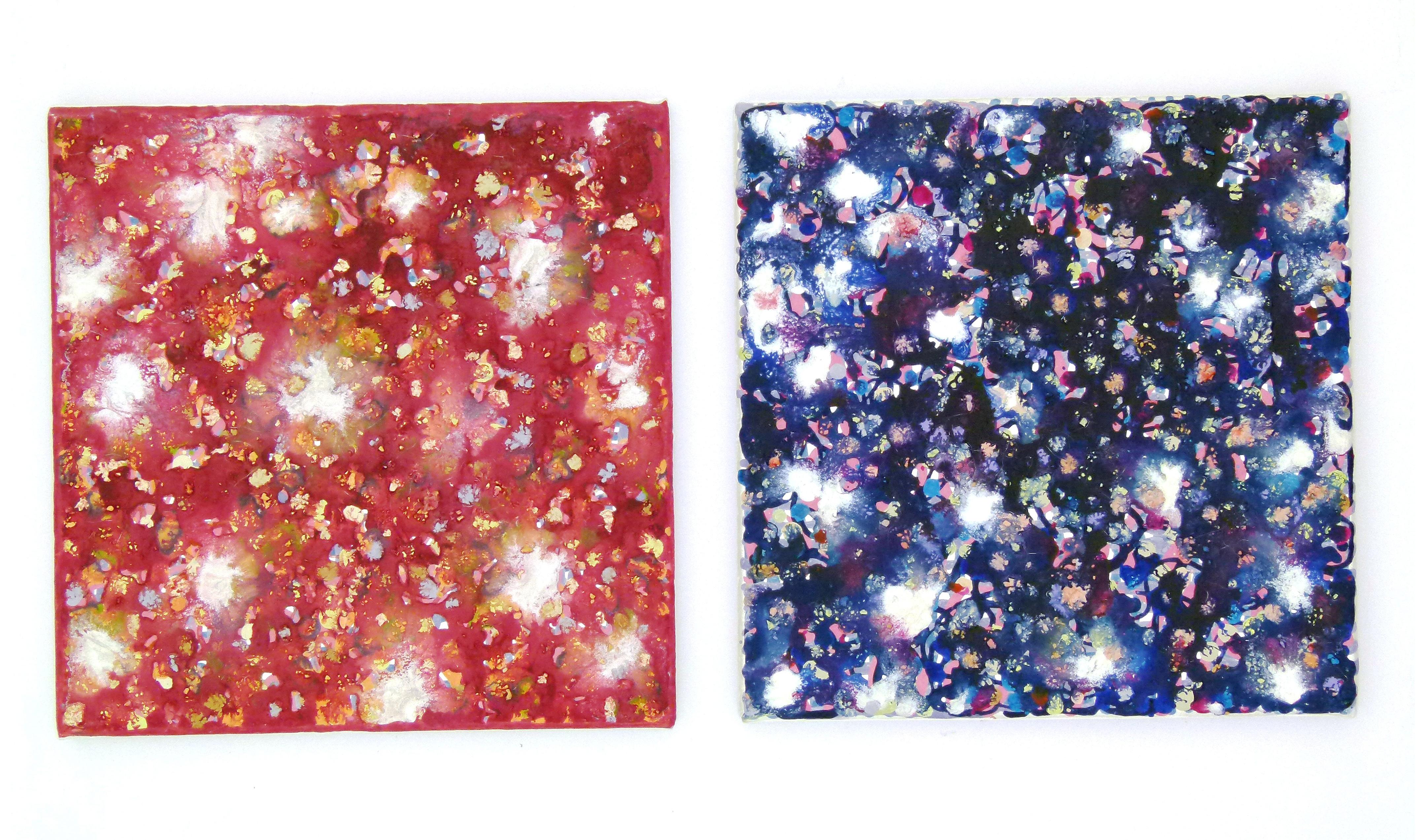 Farbige Tusche auf Leinwand 2007_0004_L1100040a