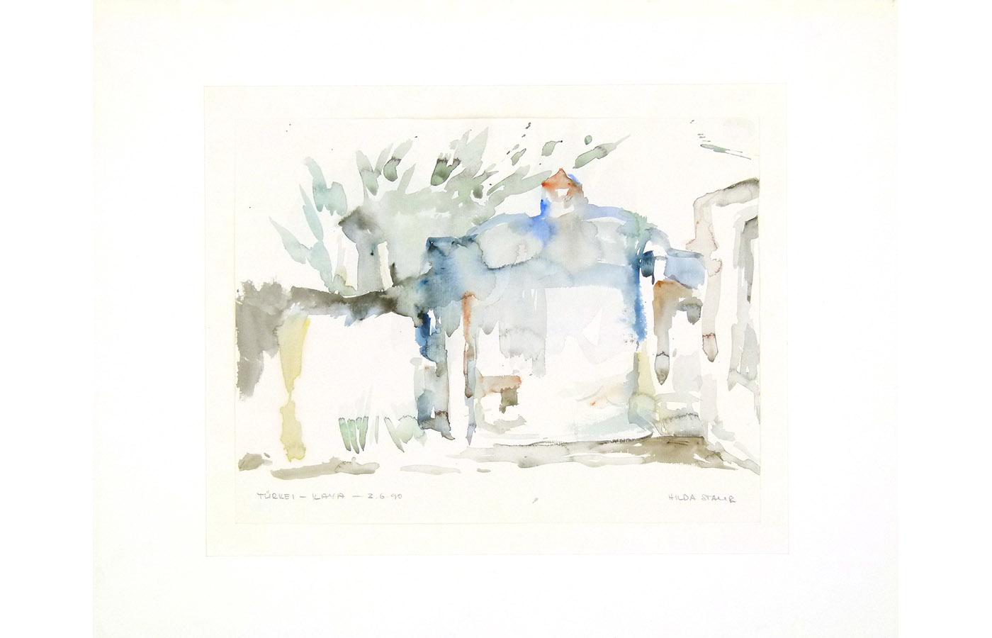 Landschaften und Reisebilder, Aquarell, 1991 bis 1993_0004_L1110069a