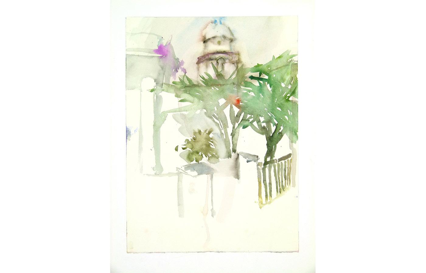 Landschaften und Reisebilder, Aquarell, 1991 bis 1993_0006_L1110067a$