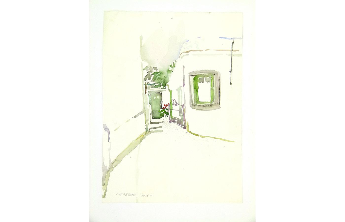 Landschaften und Reisebilder, Aquarell, 1991 bis 1993_0015_L1110058a