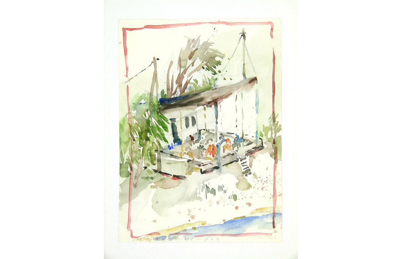Landschaften und Reisebilder, Aquarell, 1991 bis 1993_0019_L1110054a