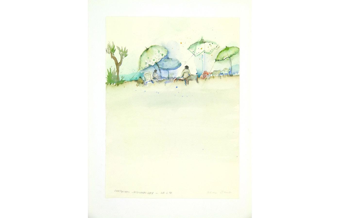 Landschaften und Reisebilder, Aquarell, 1991 bis 1993_0020_L1110053a