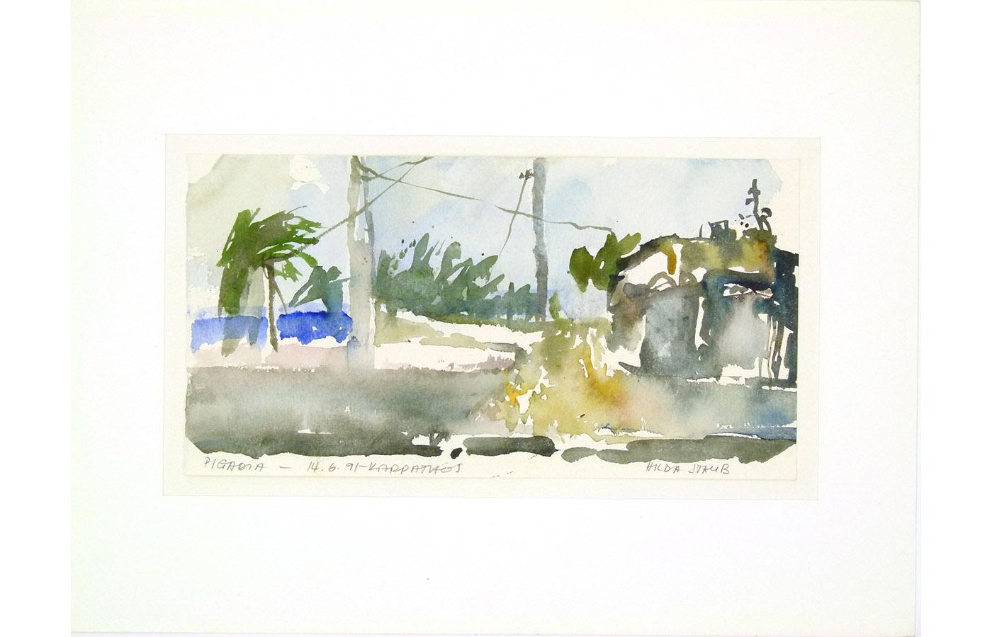 Landschaften und Reisebilder, Aquarell, 1991 bis 1993_0023_L1110050a
