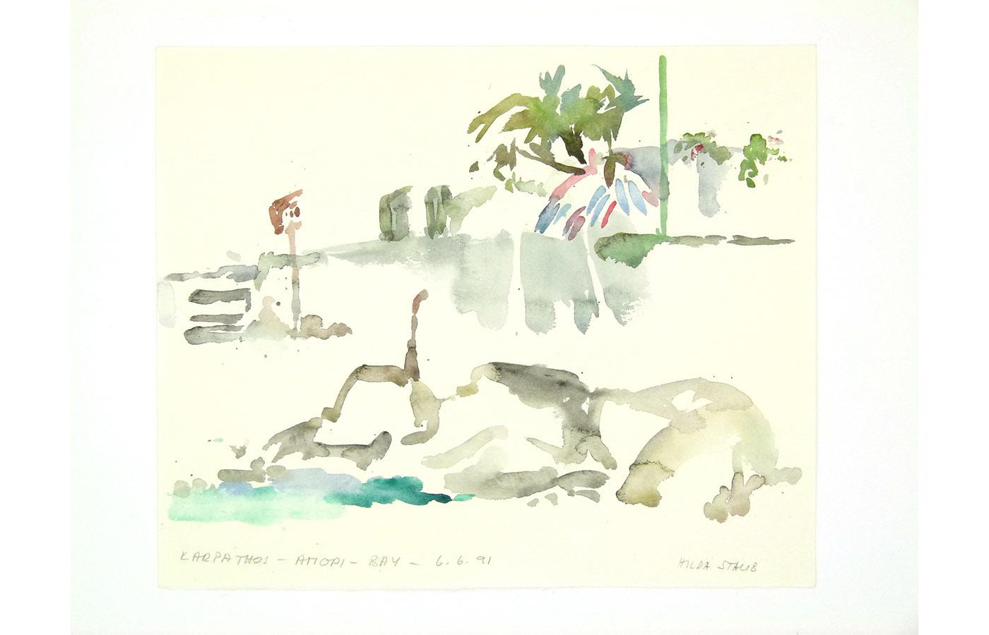 Landschaften und Reisebilder, Aquarell, 1991 bis 1993_0027_L1110046a