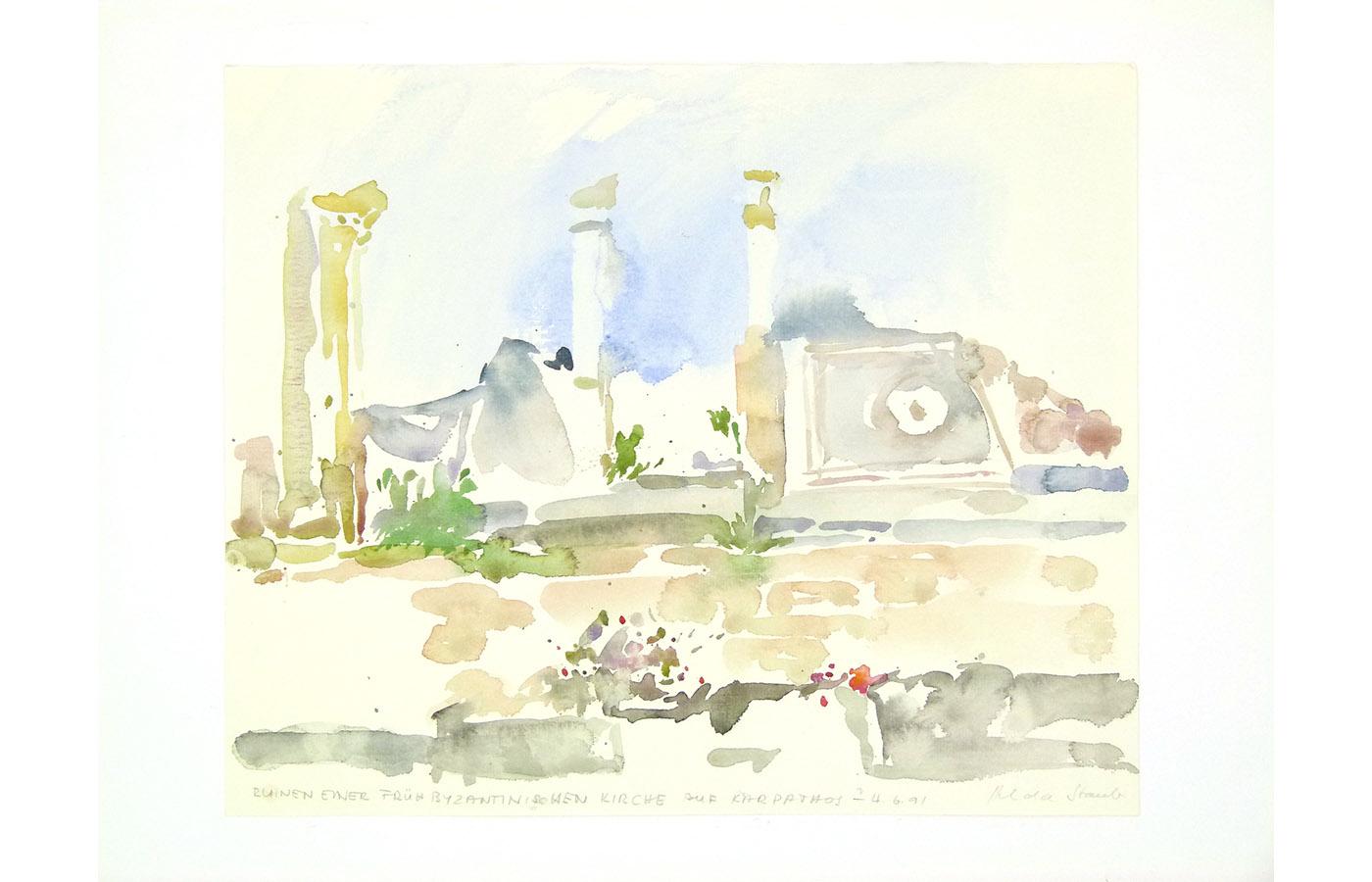 Landschaften und Reisebilder, Aquarell, 1991 bis 1993_0028_L1110045a
