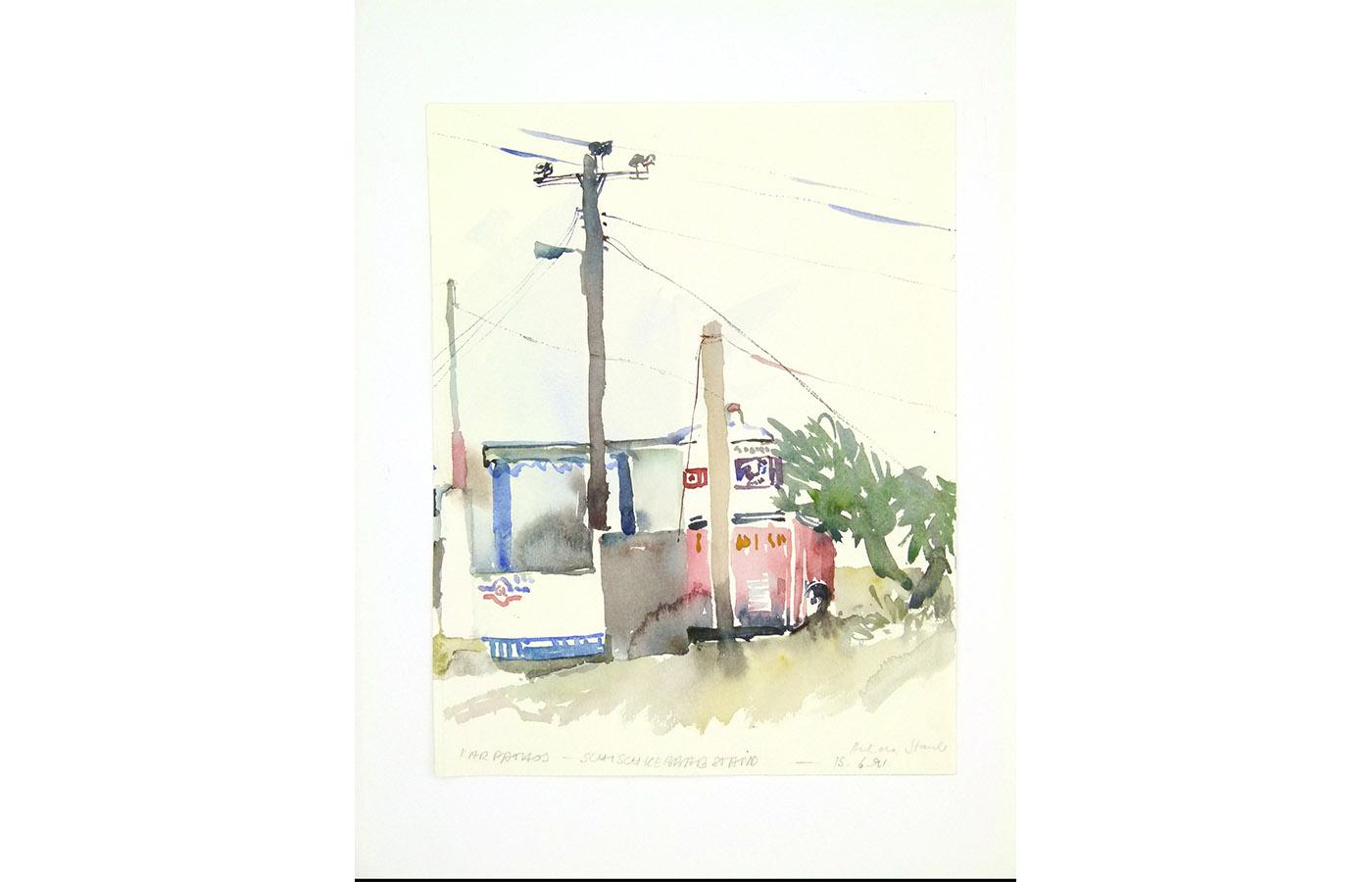 Landschaften und Reisebilder, Aquarell, 1991 bis 1993_0030_L1110043a