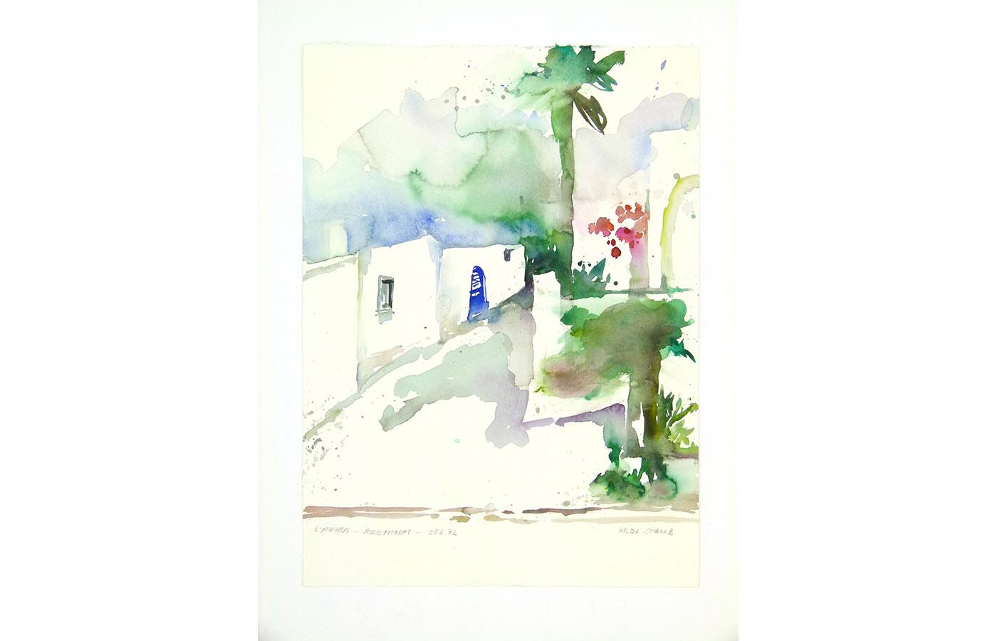 Landschaften und Reisebilder, Aquarell, 1991 bis 1993_0035_L1110038a