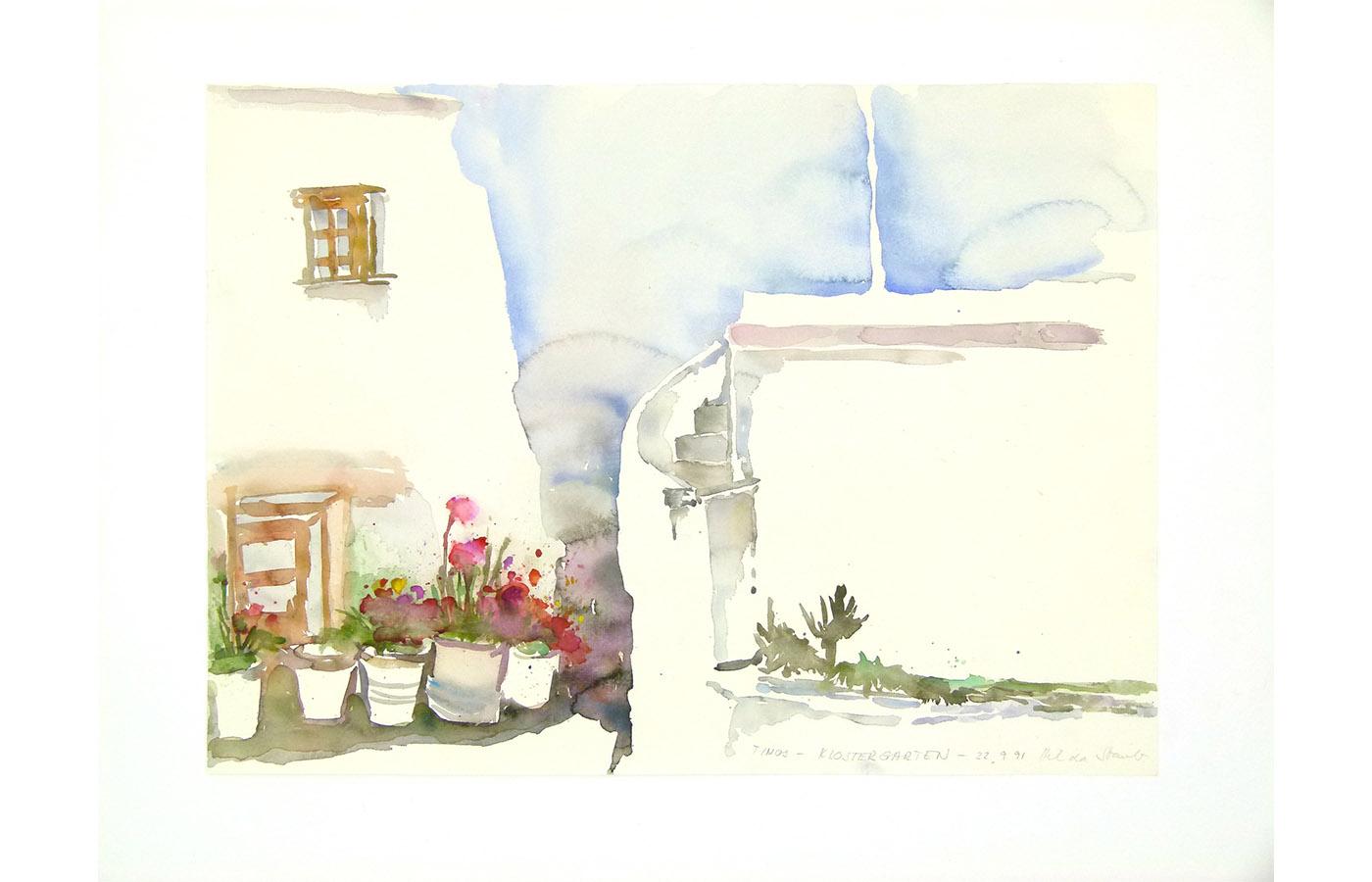 Landschaften und Reisebilder, Aquarell, 1991 bis 1993_0036_L1110037a