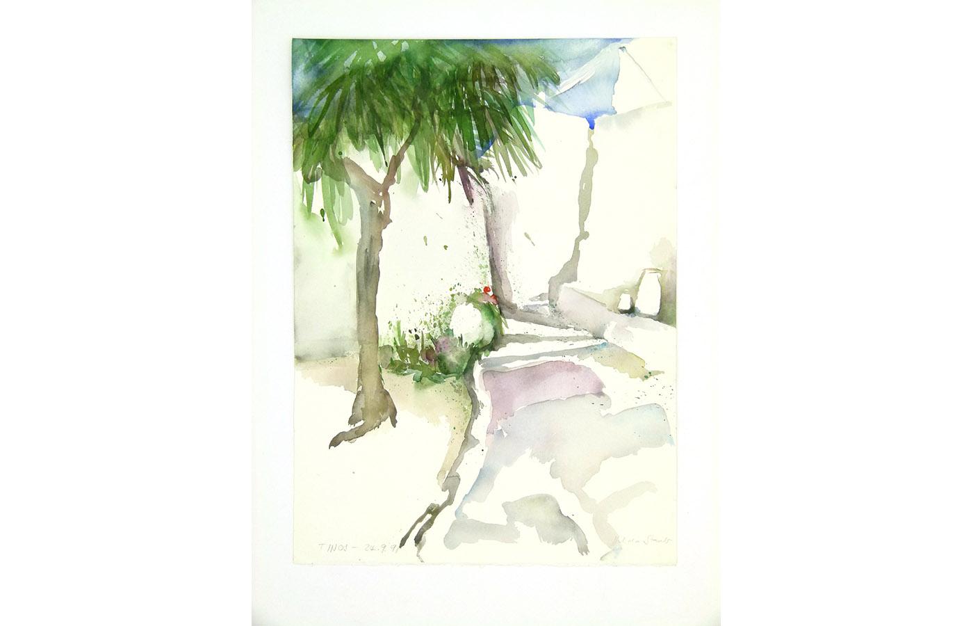 Landschaften und Reisebilder, Aquarell, 1991 bis 1993_0037_L1110036a