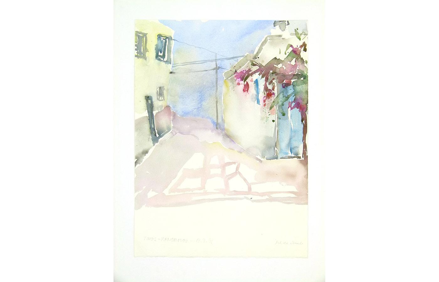 Landschaften und Reisebilder, Aquarell, 1991 bis 1993_0041_L1110032a