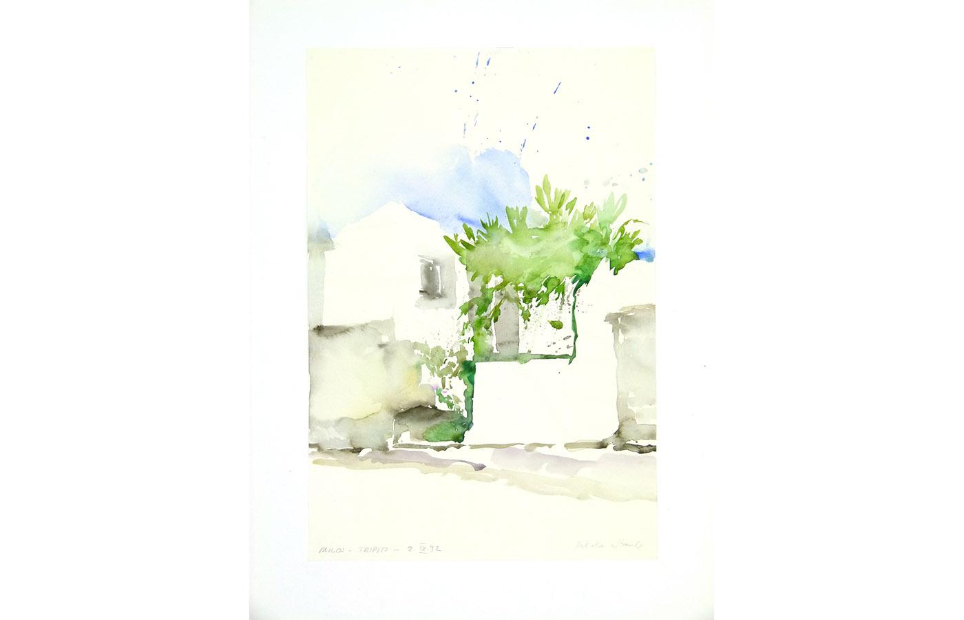 Landschaften und Reisebilder, Aquarell, 1991 bis 1993_0043_L1110030a